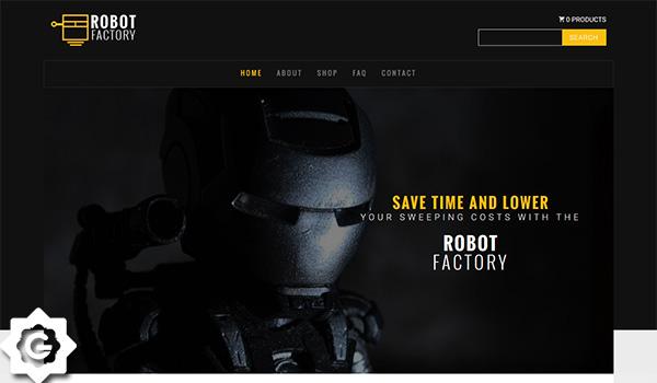 دانلود قالب html ریسپانسیو robot factory master برای سایت های بازی و معرفی بازی